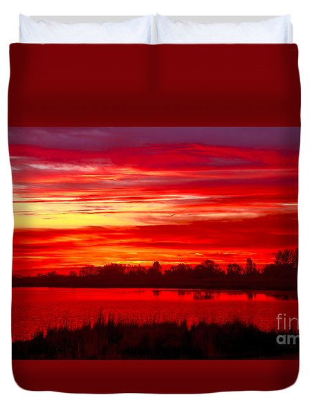 Shades Of Red Duvet Cover by Robert Bales