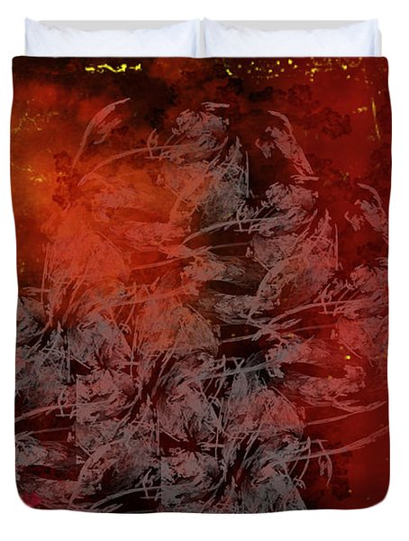 Shadow And Flame Duvet Cover by Christopher Gaston