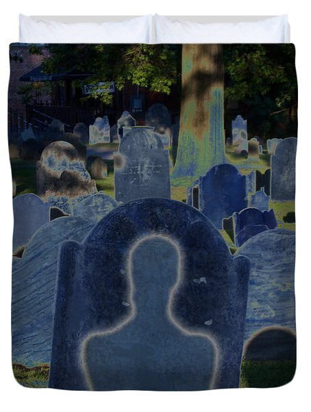 Shadow Grave  Duvet Cover by First Star Art