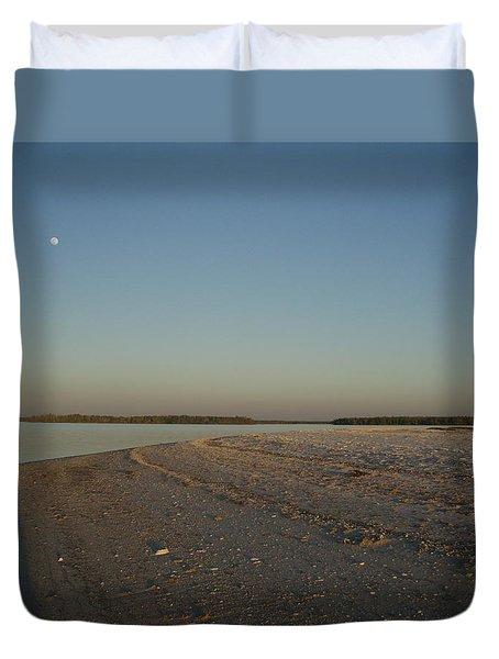 Shadow Moon Duvet Cover by Robert Nickologianis