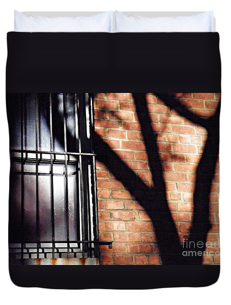 Shadow On The Wall Duvet Cover by Sarah Loft