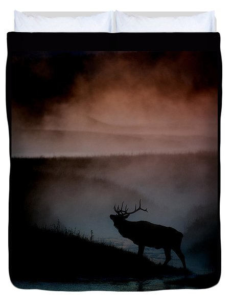 Shadows along the Madison Duvet Cover by Gary Langley