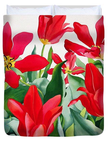 Shakespeare Tulips Duvet Cover by Christopher Ryland