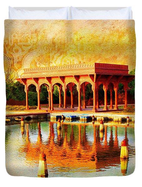 Shalimar Gardens Duvet Cover by Catf