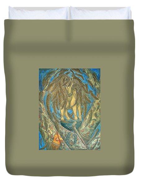 Shaman Spirit Duvet Cover by Kim Jones