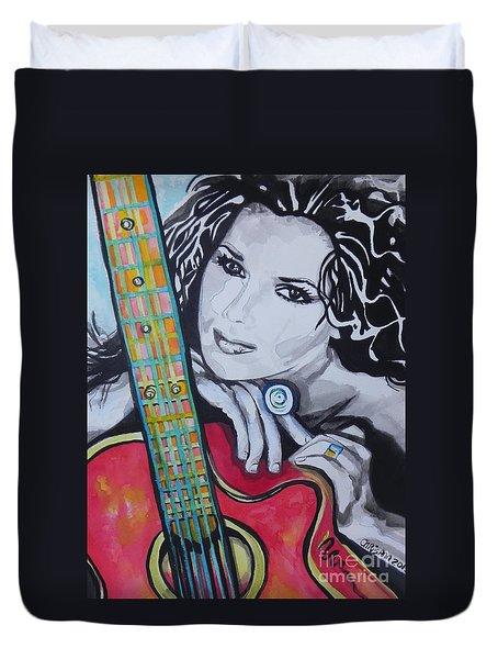 Shania Twain Duvet Cover by Chrisann Ellis