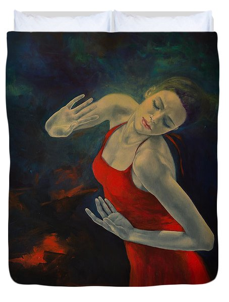 Shape Of My Heart... Duvet Cover by Dorina  Costras