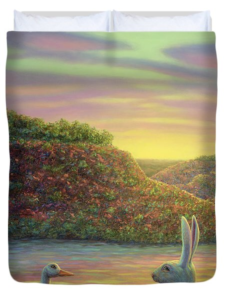 Sharing A Moment Duvet Cover by James W Johnson
