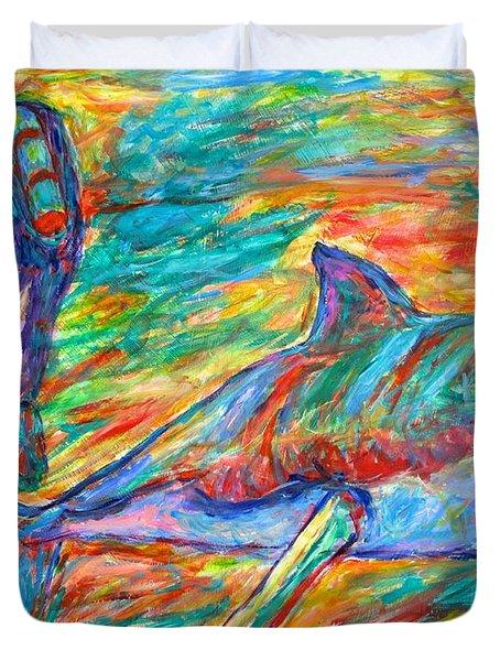 Shark Beauty Duvet Cover by Kendall Kessler