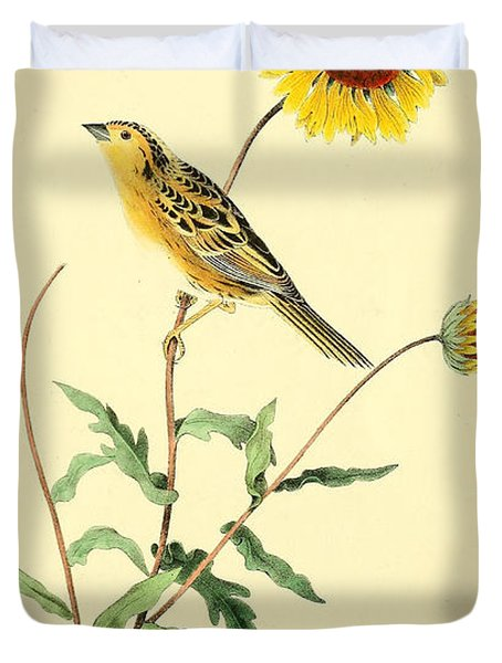 Sharp-Tailed Bunting Duvet Cover by Philip Ralley