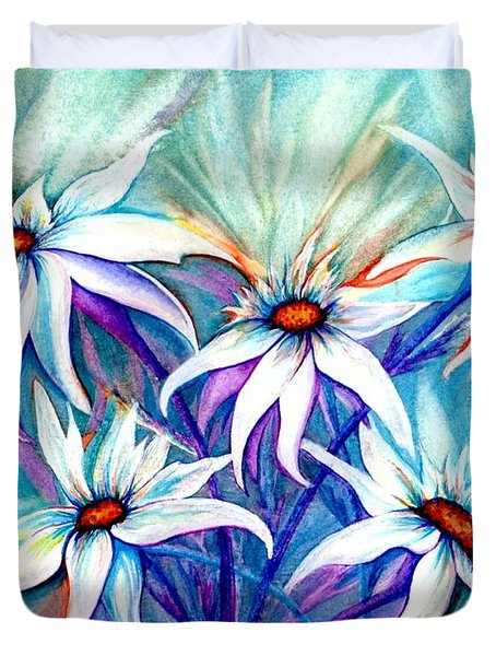 Shasta Daisy Dance Duvet Cover by Janine Riley