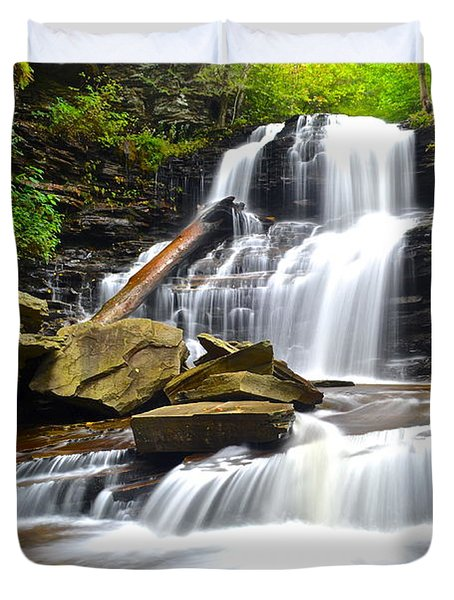 Shawnee Falls Duvet Cover by Frozen in Time Fine Art Photography