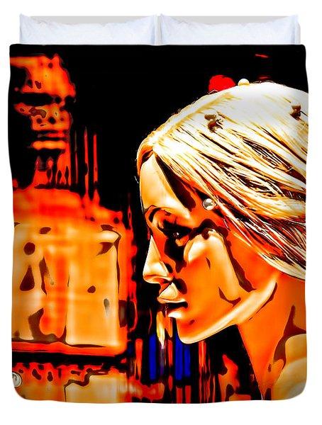 She-devil Duvet Cover by Chuck Staley