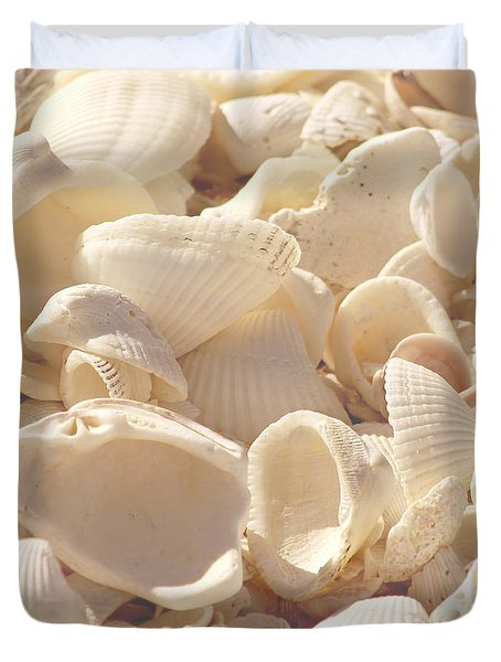 She Sells Seashells Duvet Cover by Kim Hojnacki
