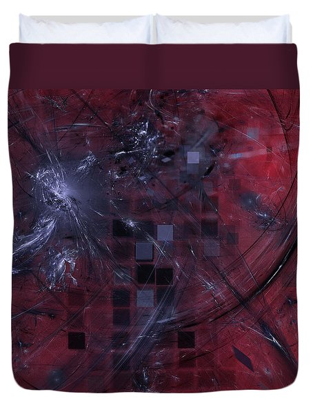 She Wants To Be Alone Duvet Cover by Jeff Iverson