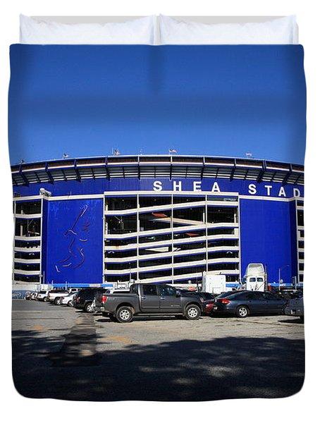 Shea Stadium - New York Mets Duvet Cover by Frank Romeo