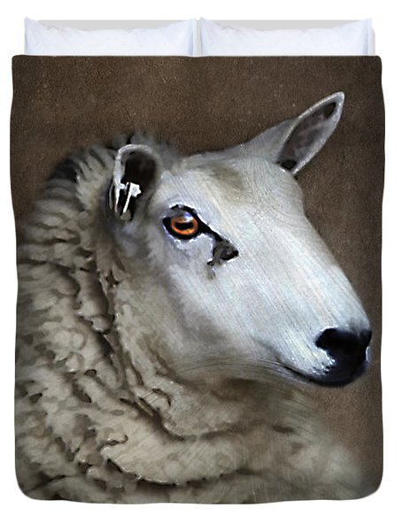 Sheep Duvet Cover by Darren Fisher