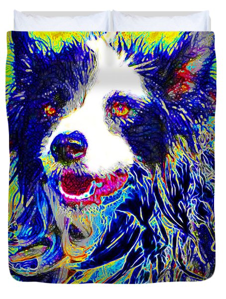 Sheep Dog 20130125v1 Duvet Cover by Wingsdomain Art and Photography