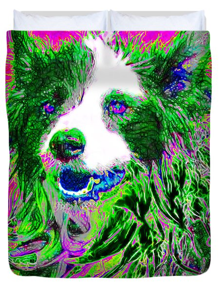 Sheep Dog 20130125v2 Duvet Cover by Wingsdomain Art and Photography