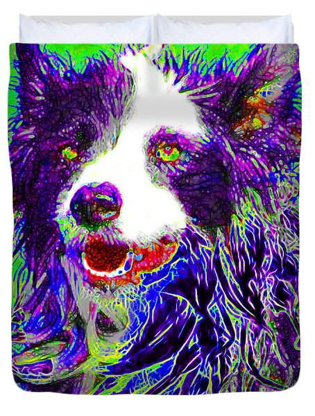Sheep Dog 20130125v4 Duvet Cover by Wingsdomain Art and Photography