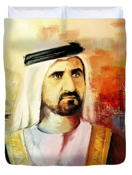 Sheikh Mohammed Bin Rashid Al Maktoum Duvet Cover by Corporate Art Task Force