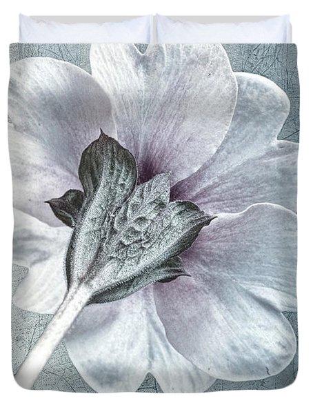 Sheradised Primula Duvet Cover by John Edwards