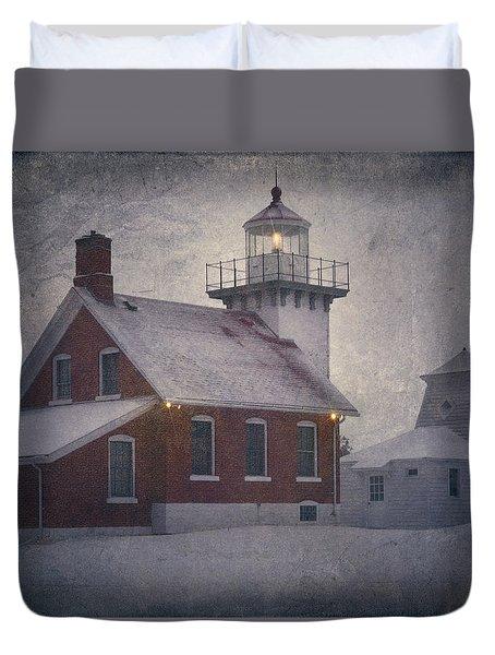 Sherwood Point Light Duvet Cover by Joan Carroll