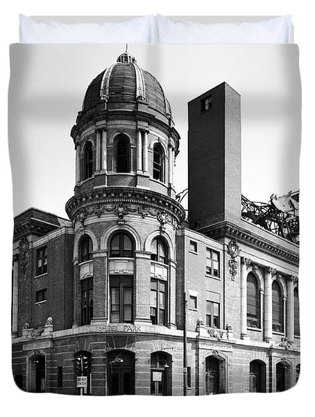 Shibe Park in black and white Duvet Cover by Bill Cannon
