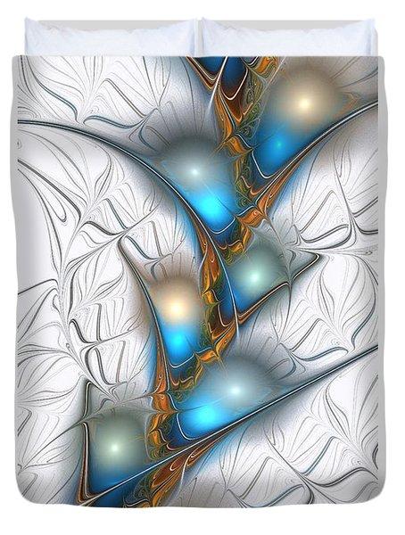 Shimmering Lights Duvet Cover by Anastasiya Malakhova