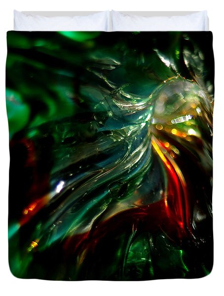 Shining Through The Glass Duvet Cover by Kitrina Arbuckle