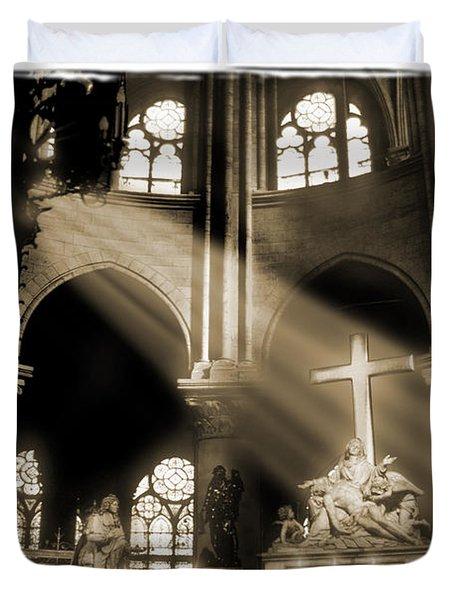 Shinning Through Duvet Cover by Mike McGlothlen