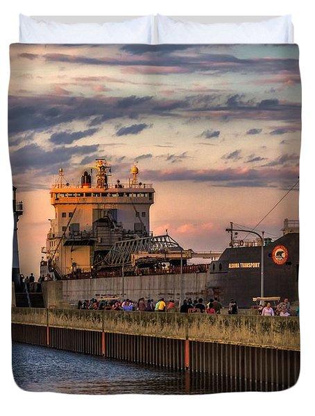 Ship Ahoy Duvet Cover by Mary Amerman