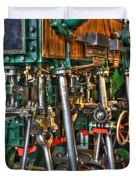 Ship Engine Duvet Cover by Heiko Koehrer-Wagner
