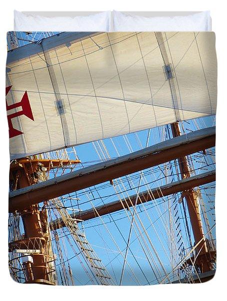 Ship Rigging Duvet Cover by Carlos Caetano