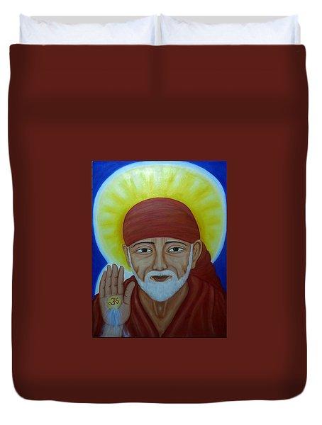 Shirdi Sai Baba Duvet Cover by Vimala Jajoo