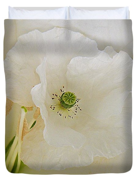 Shirley And The Moonflower Duvet Cover by Chris Berry