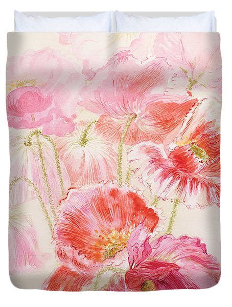 Shirley Poppies Duvet Cover by Joan Thewsey