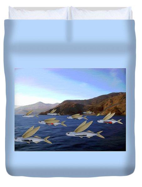 Shoreline Squadron Duvet Cover by Snake Jagger