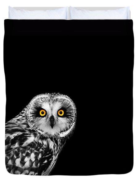 Short-eared Owl Duvet Cover by Mark Rogan