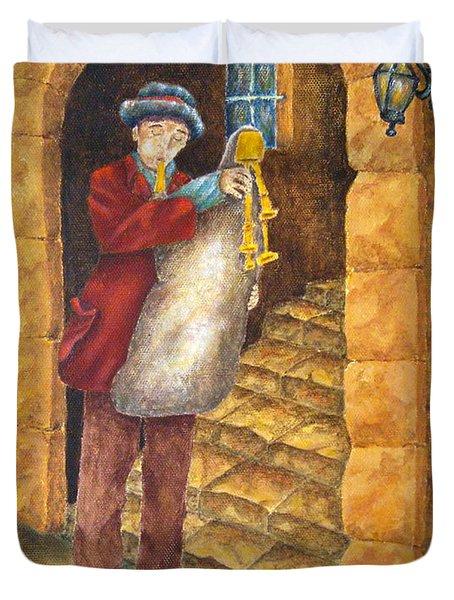 Sicilian Ciaramella Duvet Cover by Pamela Allegretto