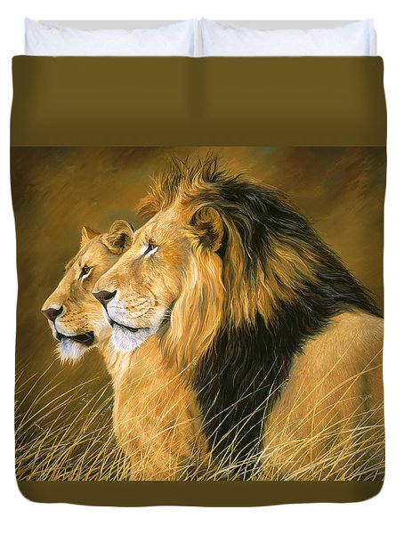Side By Side Duvet Cover by Lucie Bilodeau