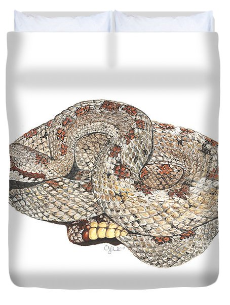 Sidewinder Duvet Cover by Cindy Hitchcock