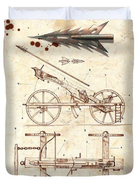 Siege Crossbow Duvet Cover by Garry Walton