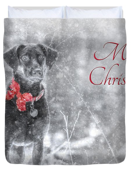 Sienna - Merry Christmas Duvet Cover by Lori Deiter