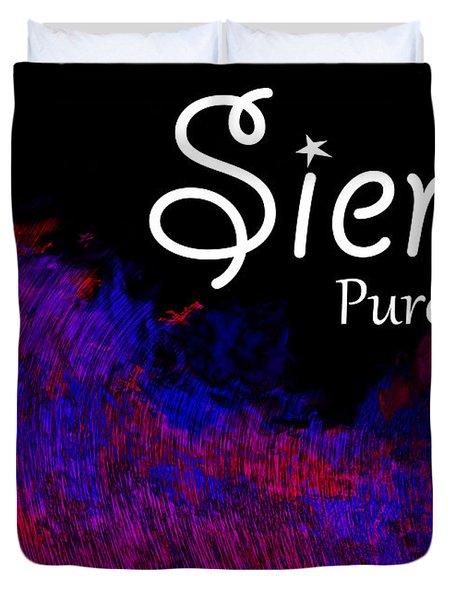 Sierra - Pure Duvet Cover by Christopher Gaston