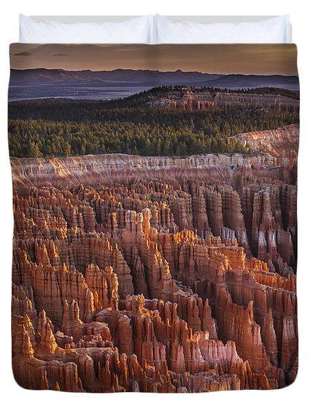 Silent City - Bryce Canyon Duvet Cover by Eduard Moldoveanu