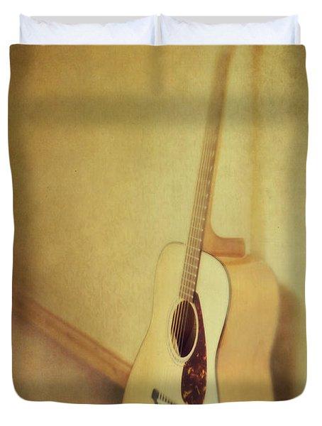 Silent Guitar Duvet Cover by Priska Wettstein