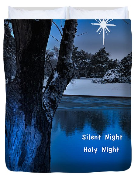 Silent Night Duvet Cover by Betty LaRue