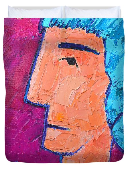 Silent Woman Duvet Cover by Ana Maria Edulescu