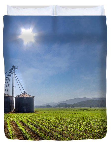 Silos Duvet Cover by Debra and Dave Vanderlaan